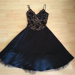 Ruby Rox Black Lace Top Dress  Size S
